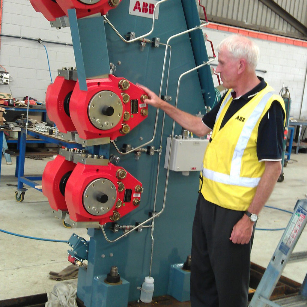Man with electrical equipment