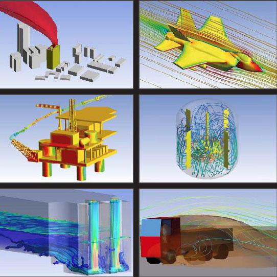 Different applications of CFD modelling