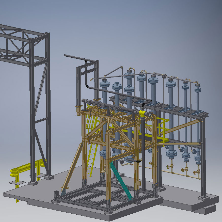 CAD drawing of Hydrogen recovery inverter