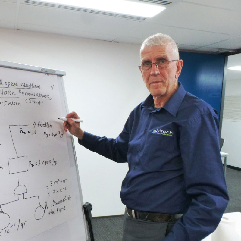 Engineer drawing up functional safety assessment