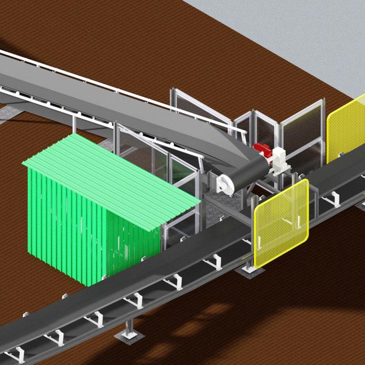 CAD drawing of conveyor